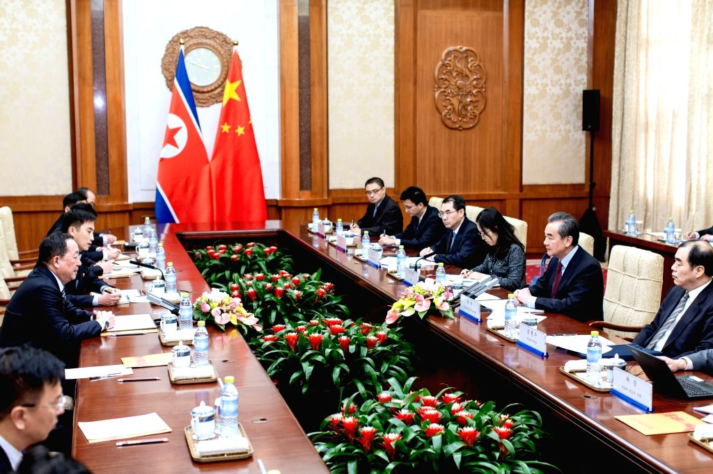 BEIJING, Dec. 7, 2018 - Chinese State Councilor and Foreign Minister Wang Yi holds talks with Foreign Minister Ri Yong Ho of the Democratic People's Republic of Korea (DPRK) in Beijing, capital of ... - Wang Y