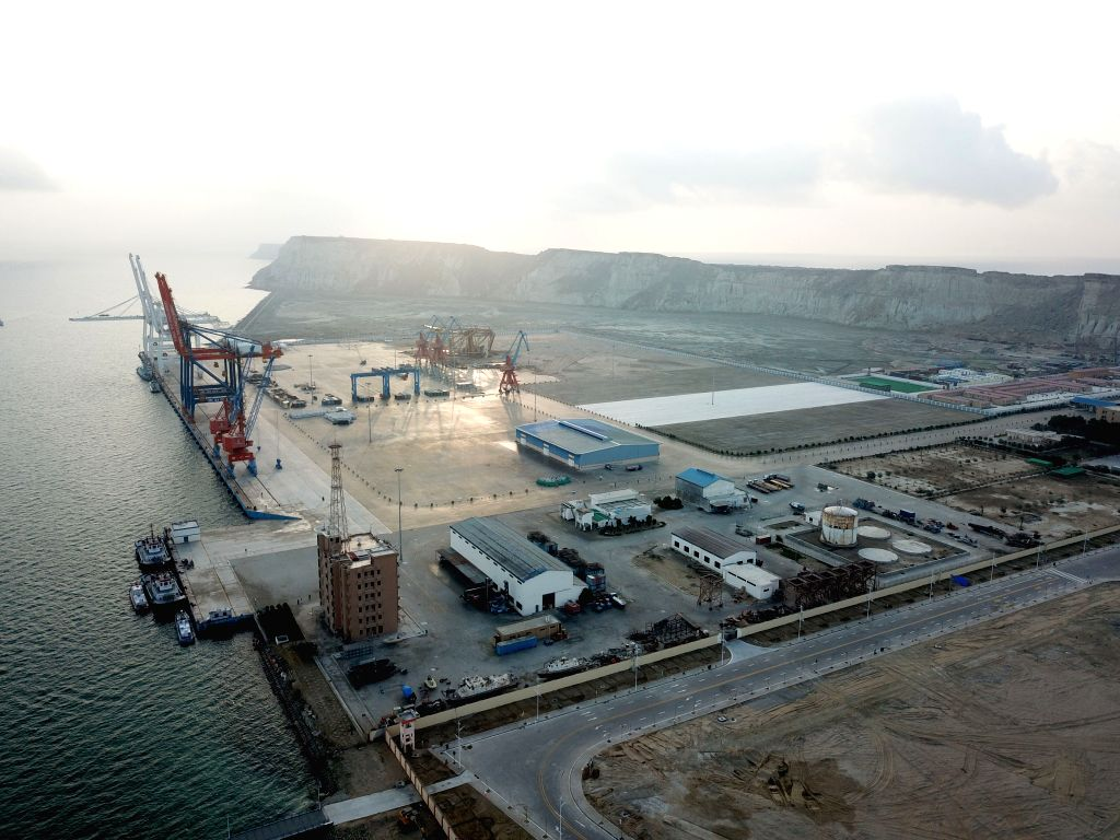 BEIJING, Feb. 7, 2019 (Xinhua) -- Photo taken on Jan. 29, 2018 shows a view of Gwadar Port in southwest Pakistan's Gwadar. Pakistani Prime Minister Imran Khan said on Wednesday that the China-Pakistan Economic Corridor (CPEC) will bring a host of eco - Imran Khan