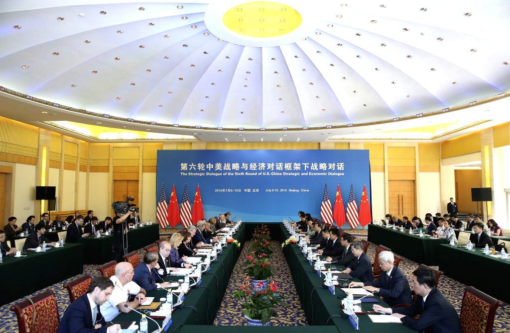 The strategic dialouge of the sixth round of the China-U.S. Strategic and Economic Dialogue (S&ED) is held in Beijing, capital of China, July 10, 2014.