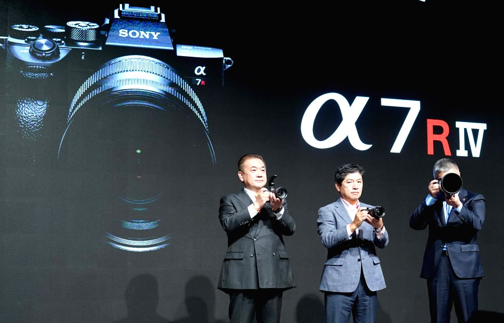 BEIJING, July 17, 2019 - Officials of Sony demonstrates Alpha 7R IV digital camera  after it was unveiled during an event in Beijing, capital of China, July 17, 2019.
