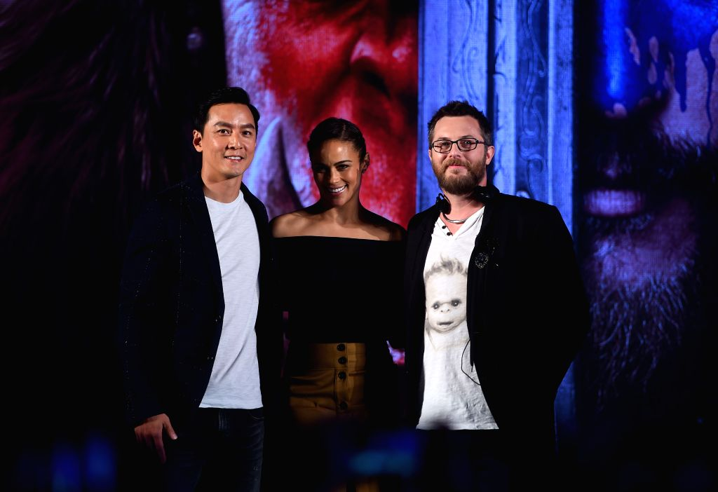 BEIJING, June 1, 2016 - Actor Daniel Wu, actress Paula Patton (C) and director Duncan Jones attend a press conference for their new movie Warcraft in Beijing, capital of China, June 1, 2016. The epic ... - Daniel W
