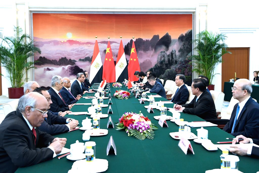 BEIJING, June 18, 2019 - Wang Yang, chairman of the Chinese People's Political Consultative Conference (CPPCC) National Committee, meets with Egypt's Parliament Speaker Ali Abdel-Aal in Beijing, ... - Ali Abdel-Aal