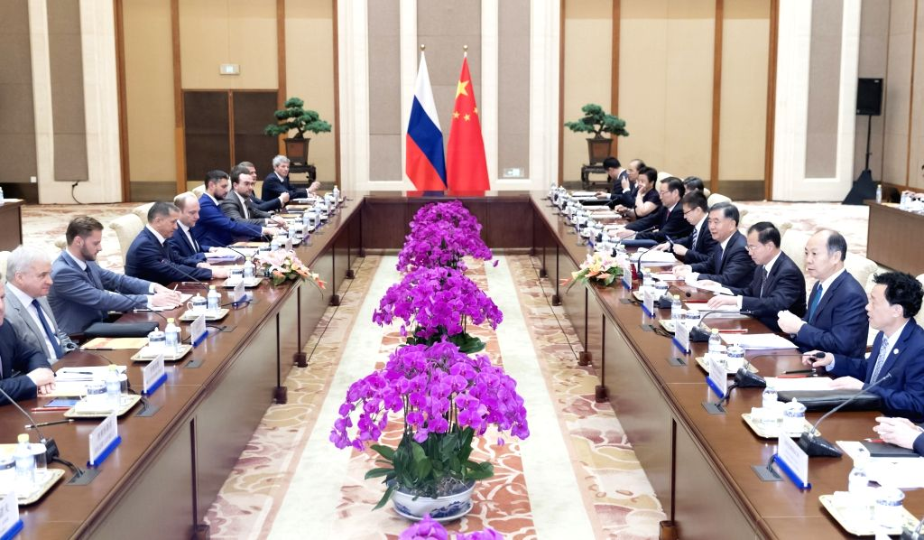 BEIJING, June 29, 2017 - Chinese Vice Premier Wang Yang and his Russian counterpart Yury Trutnev hold a meeting of a governmental cooperation committee on cooperation between China's northeast, ...