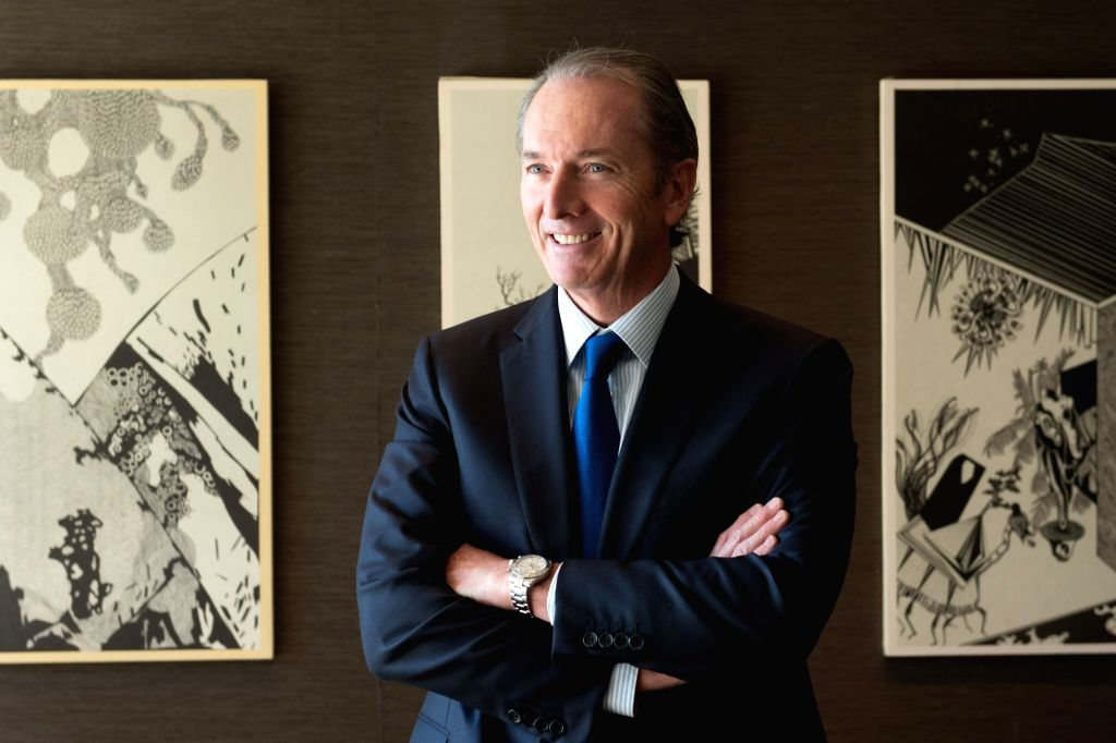 "BEIJING, June 4, 2017 (Xinhua) -- Photo taken on June 1, 2017 shows the Morgan Stanley chairman and CEO James Gorman in Beijing, capital of China. Morgan Stanley chairman and CEO James Gorman said the market ""overestimated the uncertainties in China,"