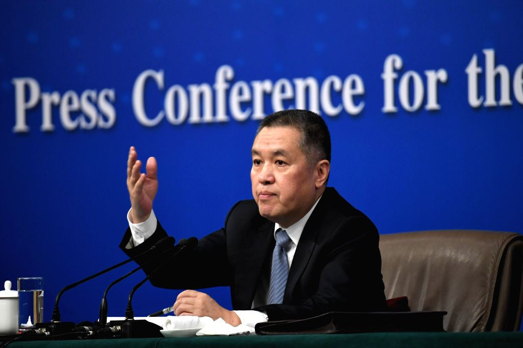 BEIJING, March 10, 2017 - Zhang Mao, head of the State Administration for Industry and Commerce, answers questions at a press conference on deepening reforms to commerce affairs administration for ...