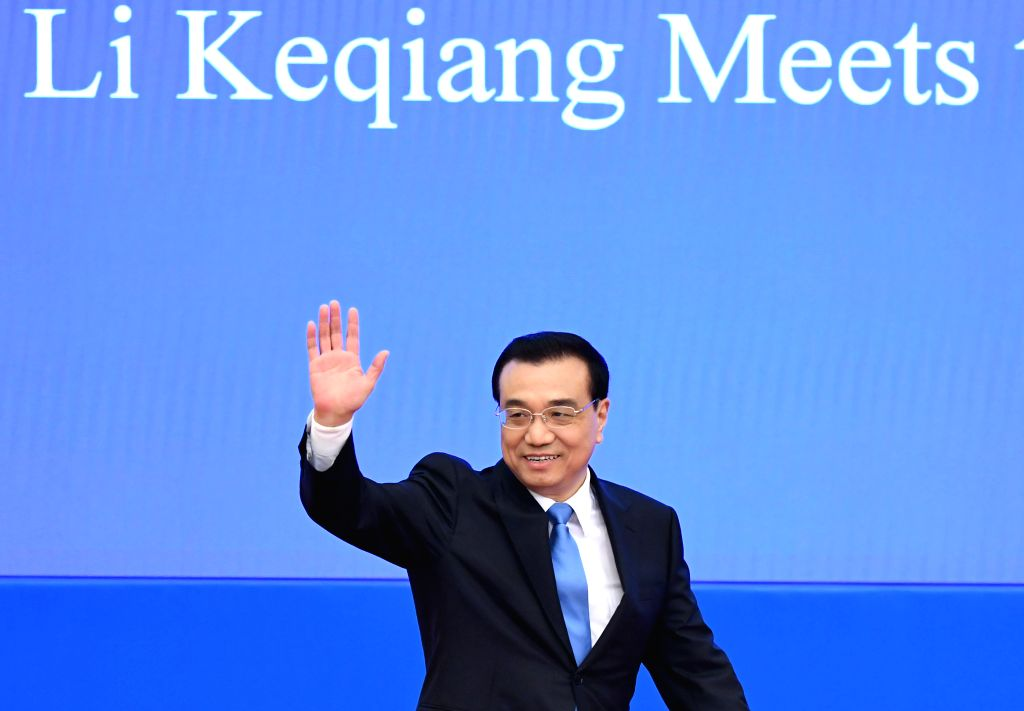 BEIJING, March 15, 2017 - Chinese Premier Li Keqiang arrives for a press conference at the Great Hall of the People in Beijing, capital of China, March 15, 2017.