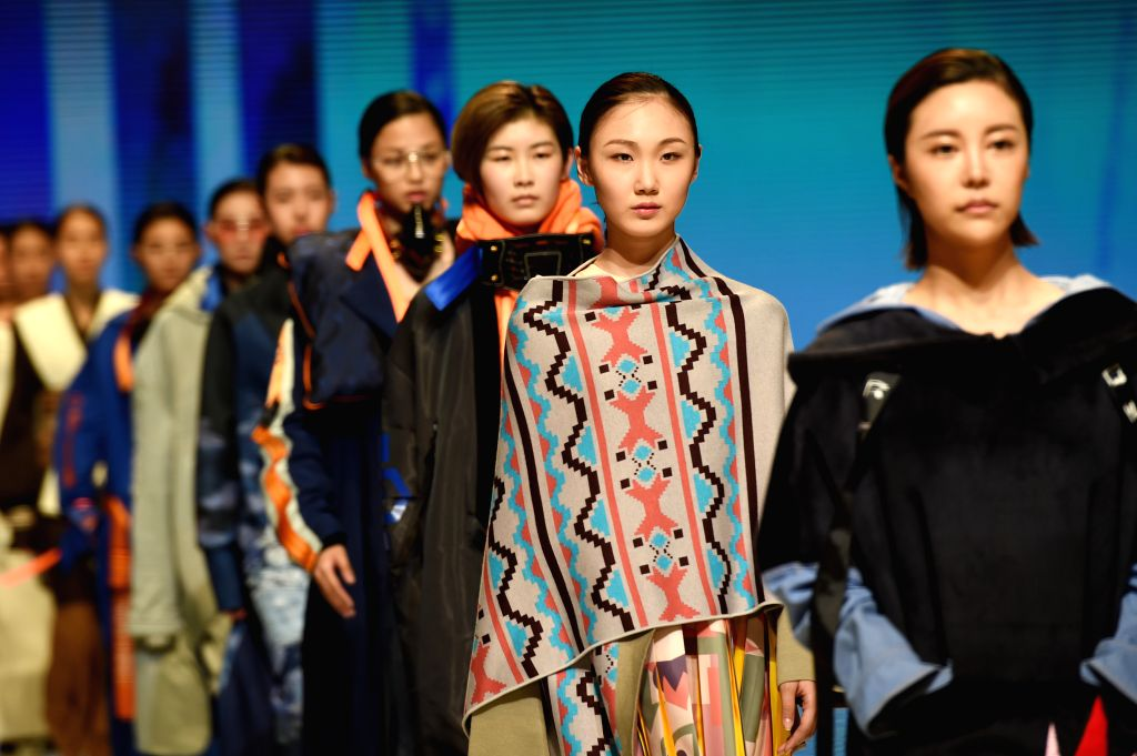 BEIJING, March 15, 2017 - Models present fashion designs of graduates during a graduation design show at the Beijing Institute of Fashion Technology in Beijing, capital of China, March 14, 2017. The ...