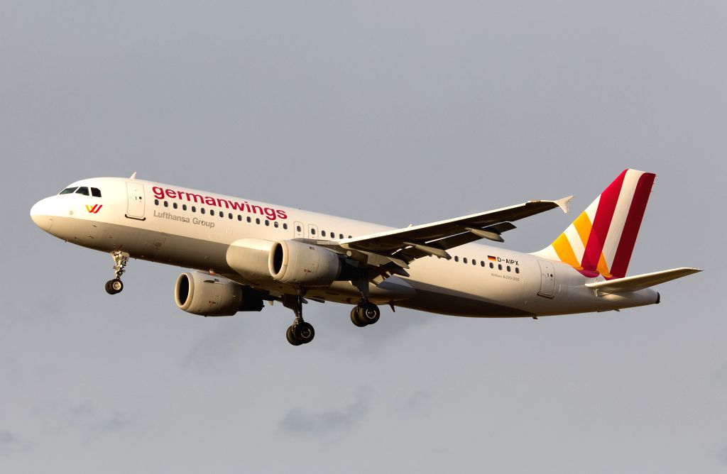 This undated file photo shows the Airbus A320 of the German airline Germanwings. An Airbus A320 of the German airline Germanwings crashed Tuesday in ...
