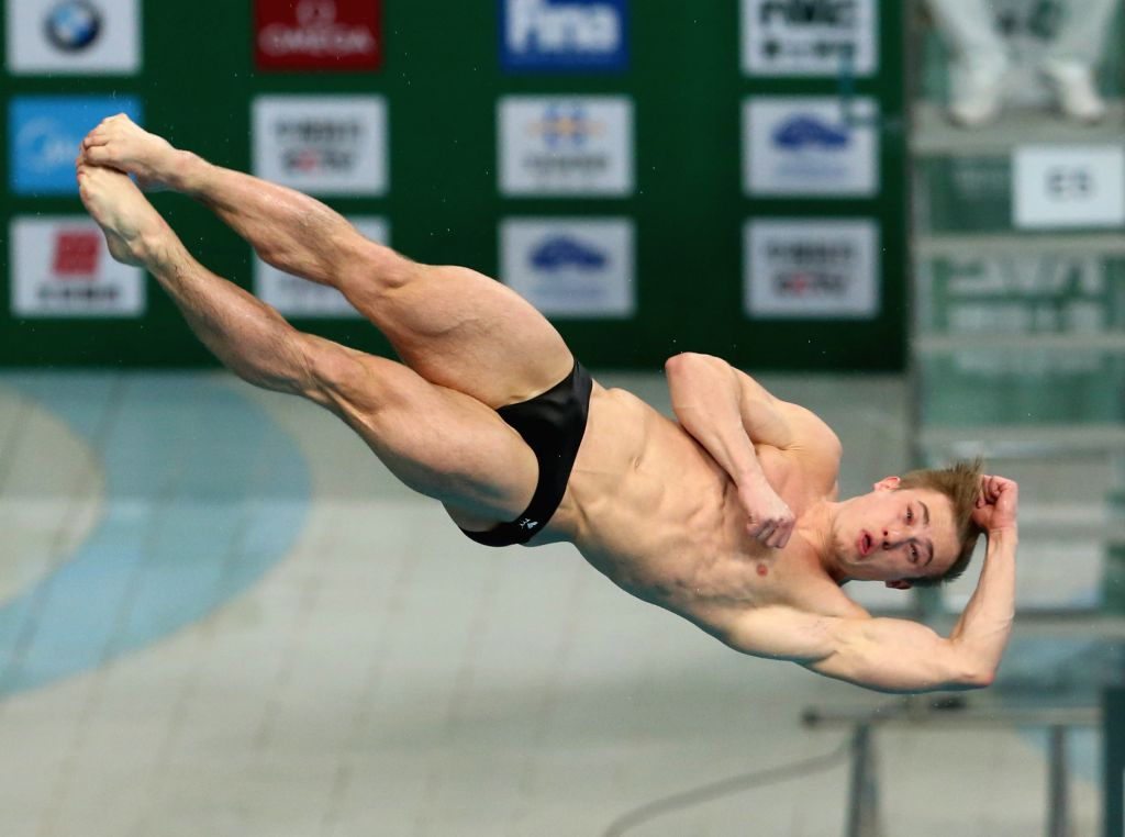 BEIJING, March 4, 2017 - Jack Laugher of Britain competes during the men's 3m springboard final of the FINA Diving World Series 2017 in Beijing, capital of China, March 4, 2017. Jack Laugher claimed ...