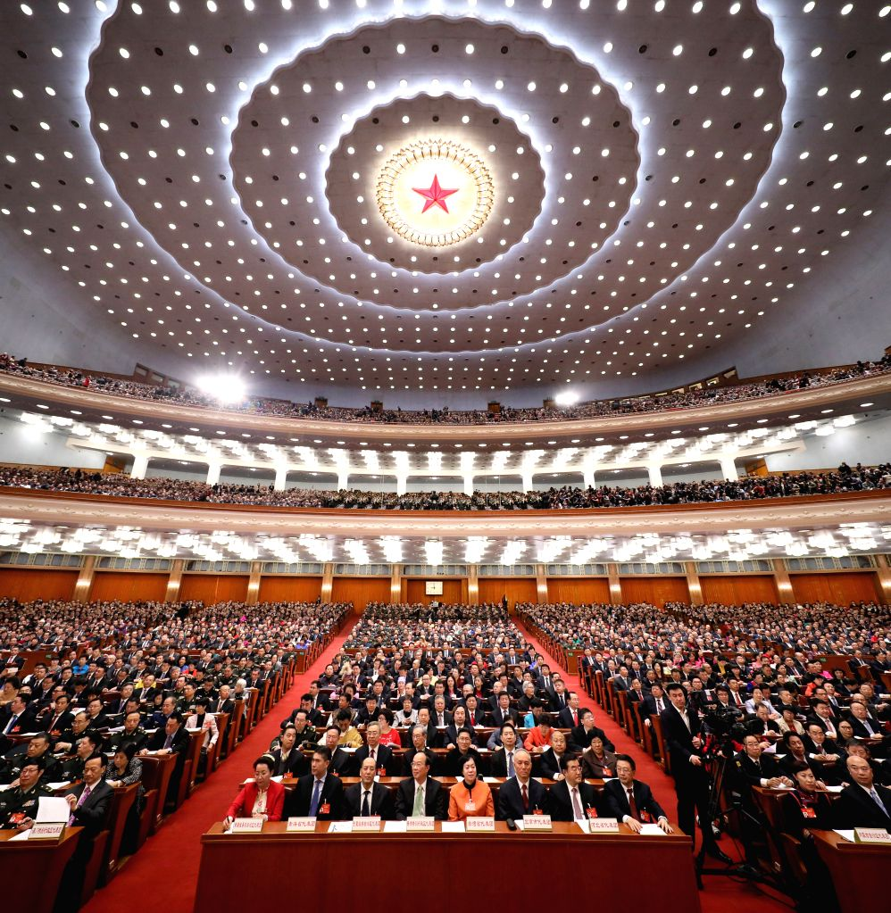 BEIJING, March 5, 2017 - The fifth session of the 12th National People's Congress opens at the Great Hall of the People in Beijing, capital of China, March 5, 2017.