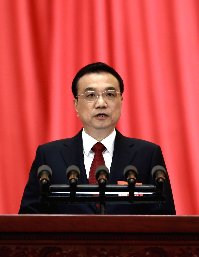BEIJING, March 5, 2019 - Chinese Premier Li Keqiang delivers a government work report at the opening meeting of the second session of the 13th National People's Congress at the Great Hall of the ...