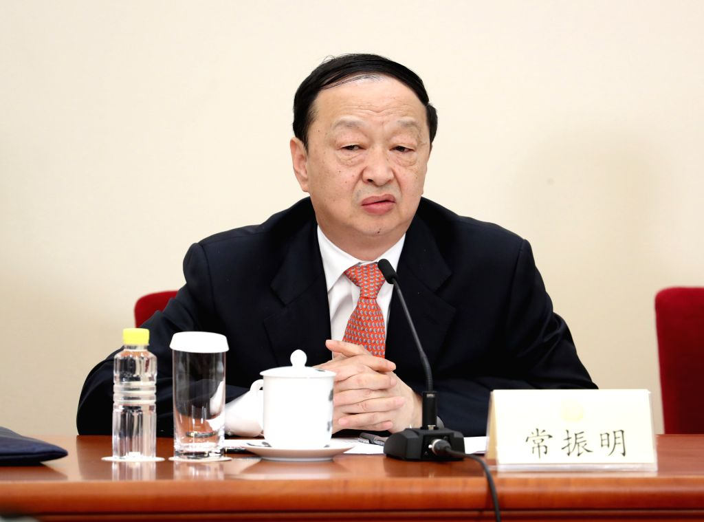 BEIJING, March 6, 2017 - Chang Zhenming, a member of the 12th National Committee of the Chinese People's Political Consultative Conference (CPPCC), attends a press conference for the fifth session of ...
