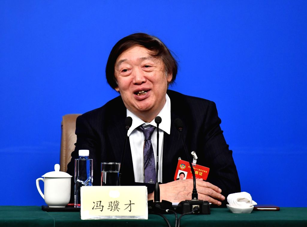 BEIJING, March 7, 2017 - Feng Jicai, a member of the 12th National Committee of the Chinese People's Political Consultative Conference (CPPCC), attends a press conference for the fifth session of the ...