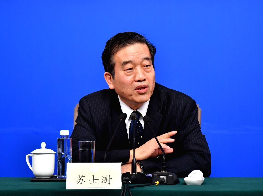 BEIJING, March 7, 2017 - Su Shishu, a member of the 12th National Committee of the Chinese People's Political Consultative Conference (CPPCC), attends a press conference for the fifth session of the ...