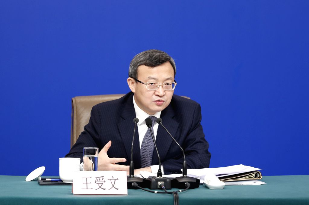 BEIJING, March 9, 2019 (Xinhua) -- Vice Minister of Commerce and Deputy China International Trade Representative Wang Shouwen attends a press conference on China's domestic market and all-round opening-up for the second session of the 13th National P