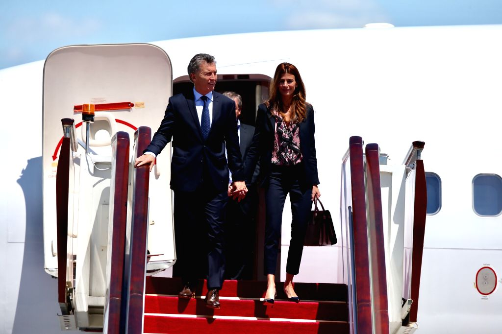 BEIJING, May 14, 2017 - Argentinean President Mauricio Macri arrives in Beijing, capital of China, May 14, 2017, to atttend the Belt and Road Forum (BRF) for International Cooperation and pay a state ...