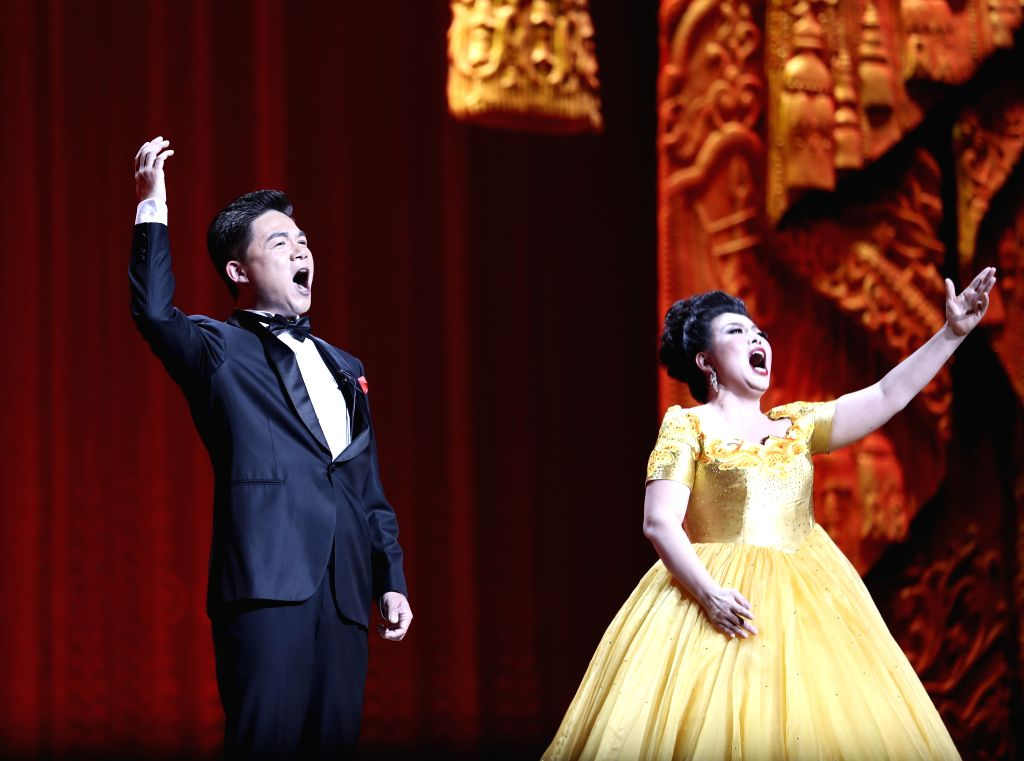 BEIJING, May 14,2017 - Performers sing during the Millennial Road, a performance for the Belt and Road Forum for International Cooperation, at the National Center for the Performing Arts in Beijing, ...