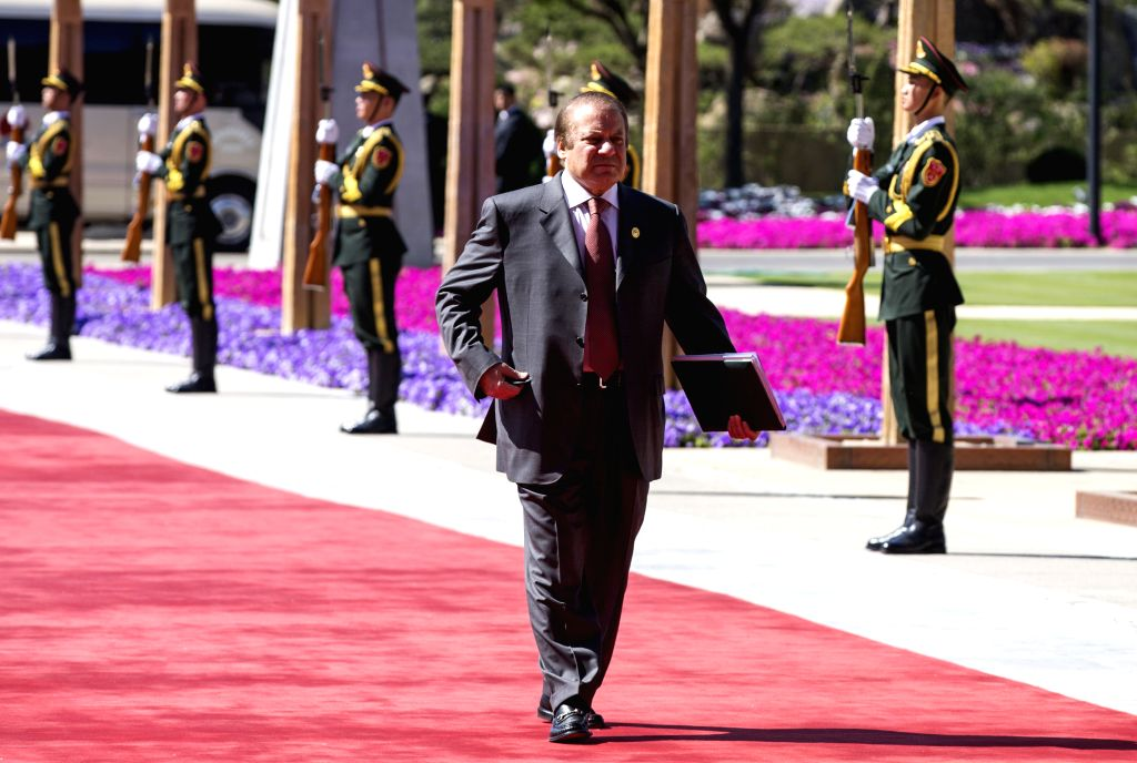 BEIJING, May 15, 2017 - Pakistani Prime Minister Nawaz Sharif arrives for the ers' Roundtable Summit at the Belt and Road Forum (BRF) for International Cooperation at Yanqi Lake International ... - Nawaz Sharif