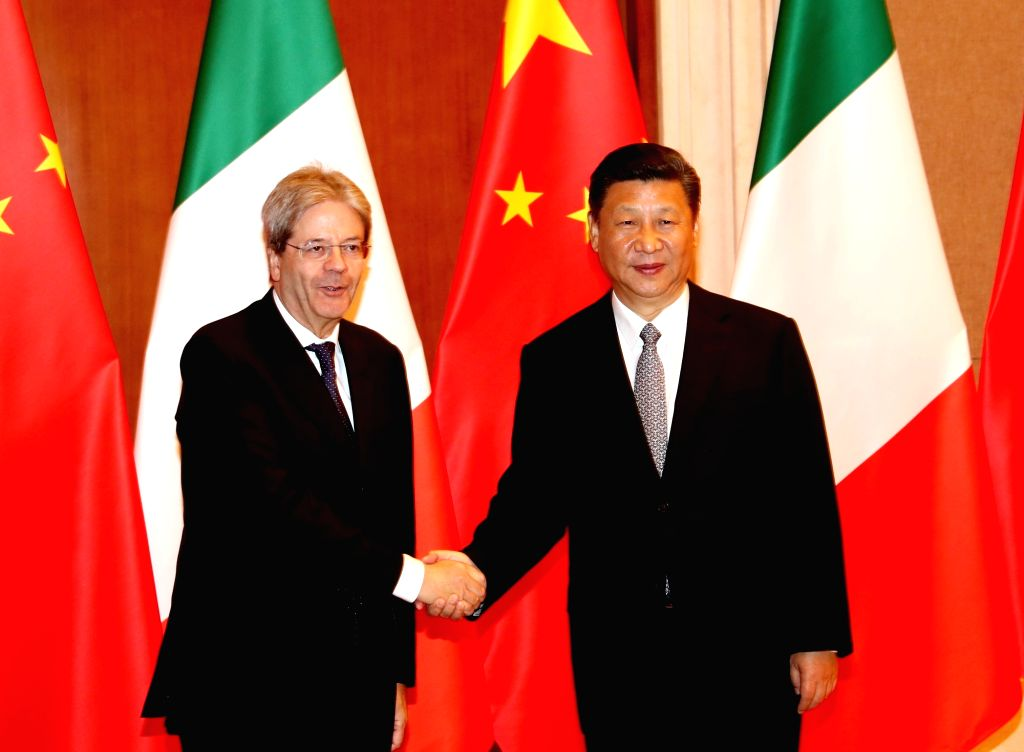 BEIJING, May 16, 2017 - Chinese President Xi Jinping meets with Italian Prime Minister Paolo Gentiloni after the two-day Belt and Road Forum for International Cooperation in Beijing, capital of ... - Paolo Gentiloni