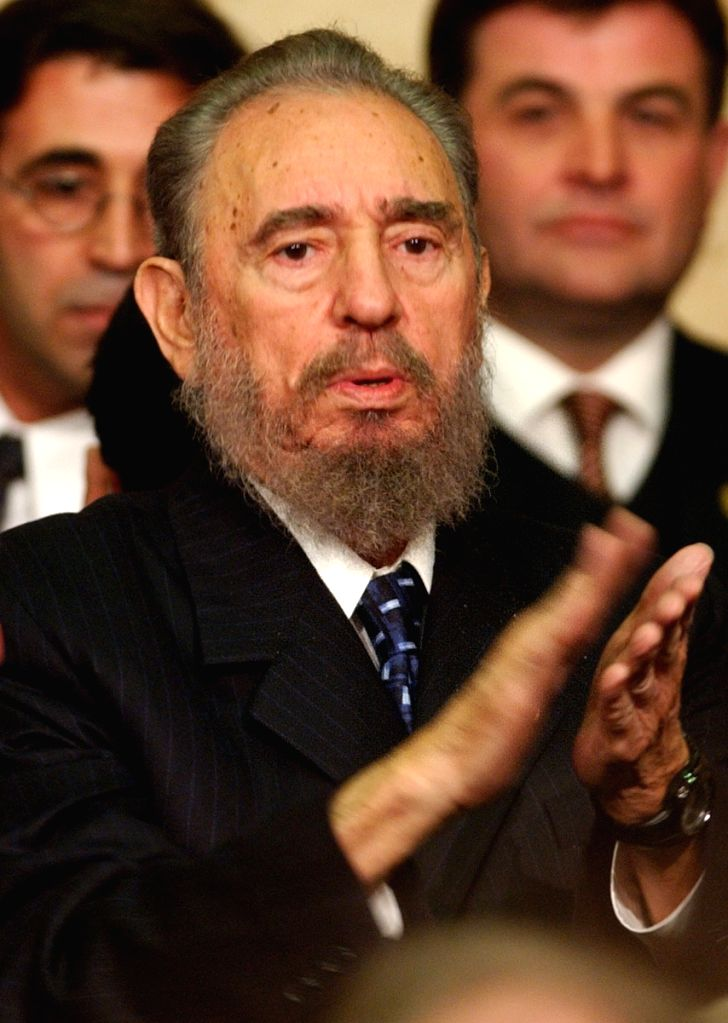 BEIJING, Nov. 26, 2016 - File photo taken on May 25, 2003 shows Fidel Castro attending the inauguration of Argentine President Nestor Kirchner in Buenos Aires. Cuban revolutionary leader Fidel Castro ...
