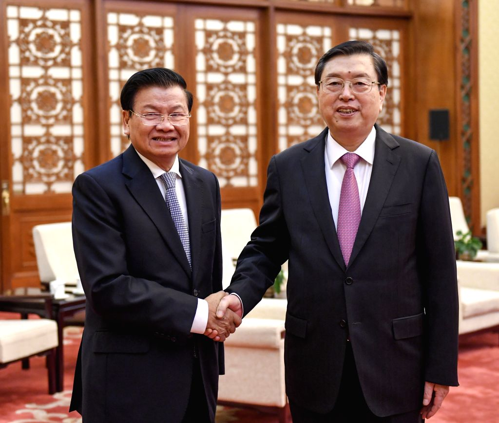 BEIJING, Nov. 28, 2016 - Zhang Dejiang (R), chairman of the Standing Committee of China's National People's Congress, meets with Lao Prime Minister Thongloun Sisoulith in Beijing, capital of China, ... - Thongloun Sisoulith