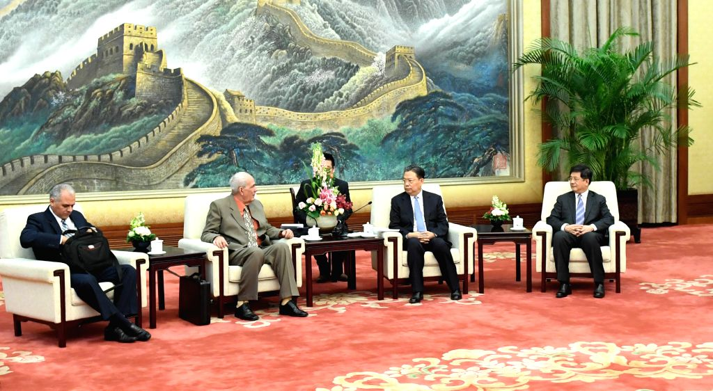 BEIJING , Nov. 29, 2016 - Zhao Leji (2nd R), a member of the Political Bureau of the Communist Party of China (CPC) Central Committee and head of the CPC Central Committee Organization Department, ...