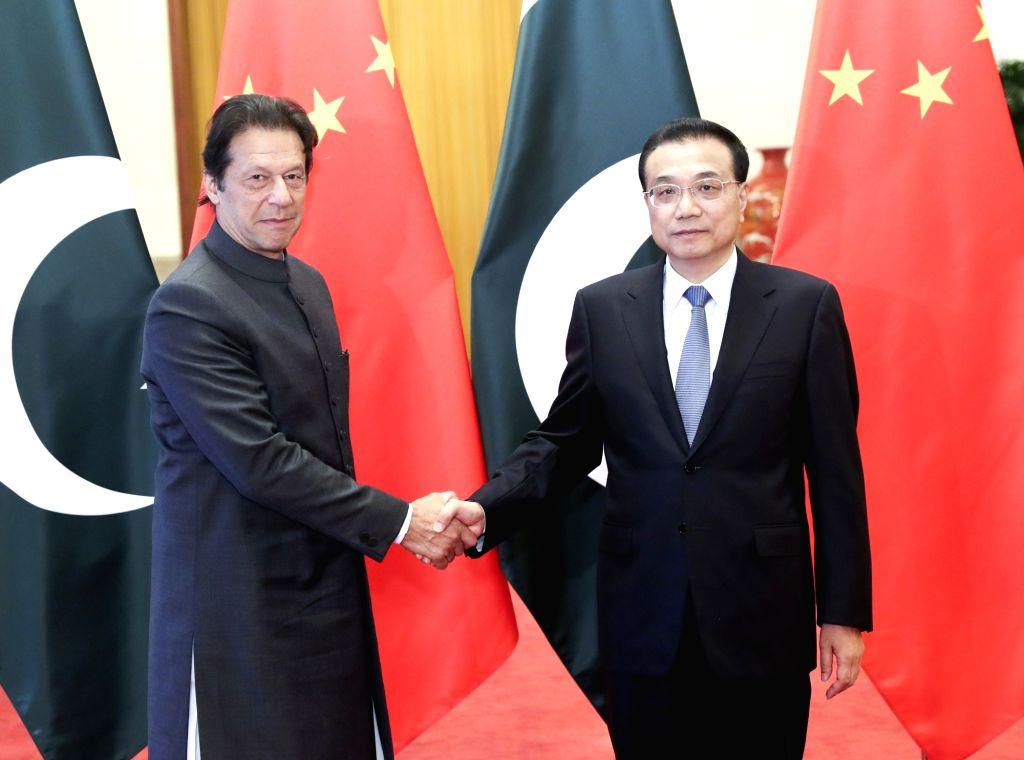 BEIJING, Nov. 3, 2018 - Chinese Premier Li Keqiang (R) holds talks with Pakistani Prime Minister Imran Khan, who is paying an official visit to China, at the Great Hall of the People in Beijing, ... - Imran Khan