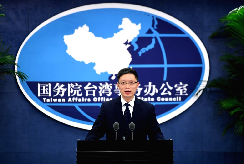 BEIJING, Oct. 26, 2016 - An Fengshan, spokesperson for the State Council Taiwan Affairs Office, speaks at a press conference in Beijing, capital of China, Oct. 26, 2016. A meeting between the leaders ...