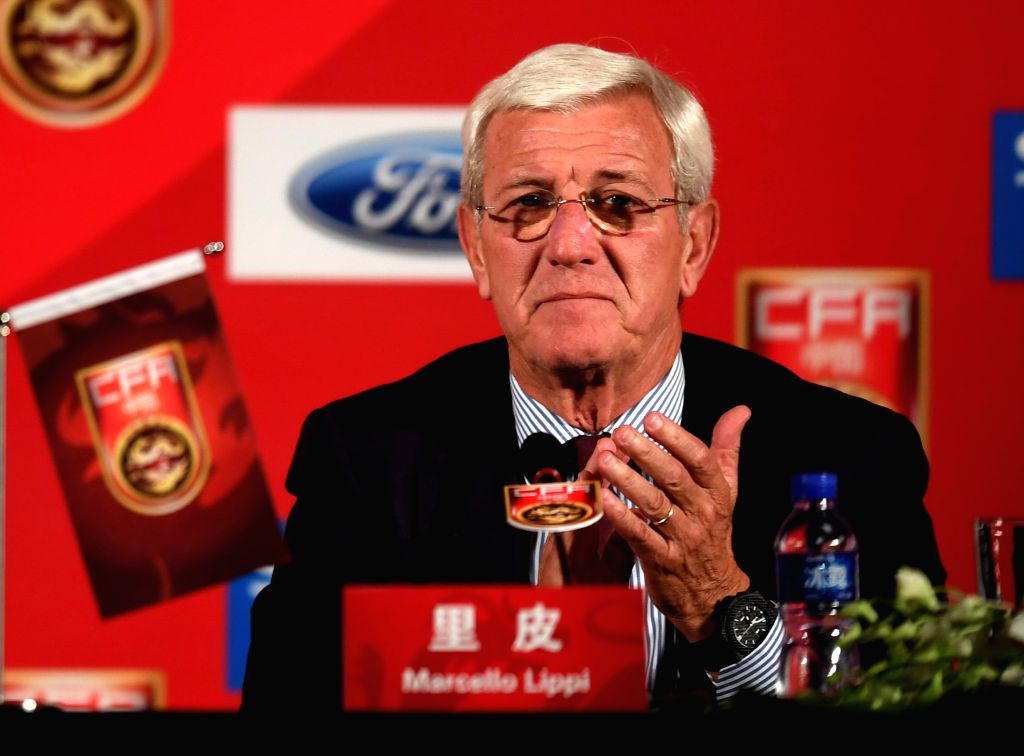 BEIJING, Oct. 28, 2016 - Marcello Lippi, China's newly appointed national football team coach, attends a press conference in Beijing, capital of China, Oct. 28, 2016.
