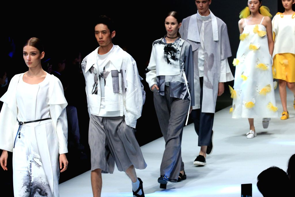 BEIJING, Oct. 31, 2016 - Models present creations at the Mercedes-Benz Future Star Collection during the China Fashion Week in Beijing, capital of China, Oct. 30, 2016.