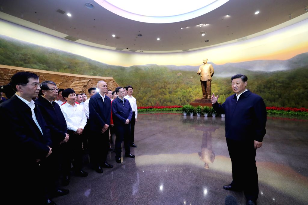 BEIJING, Sept. 12, 2019 - Chinese President Xi Jinping, also general secretary of the Communist Party of China (CPC) Central Committee and chairman of the Central Military Commission, delivers a ...