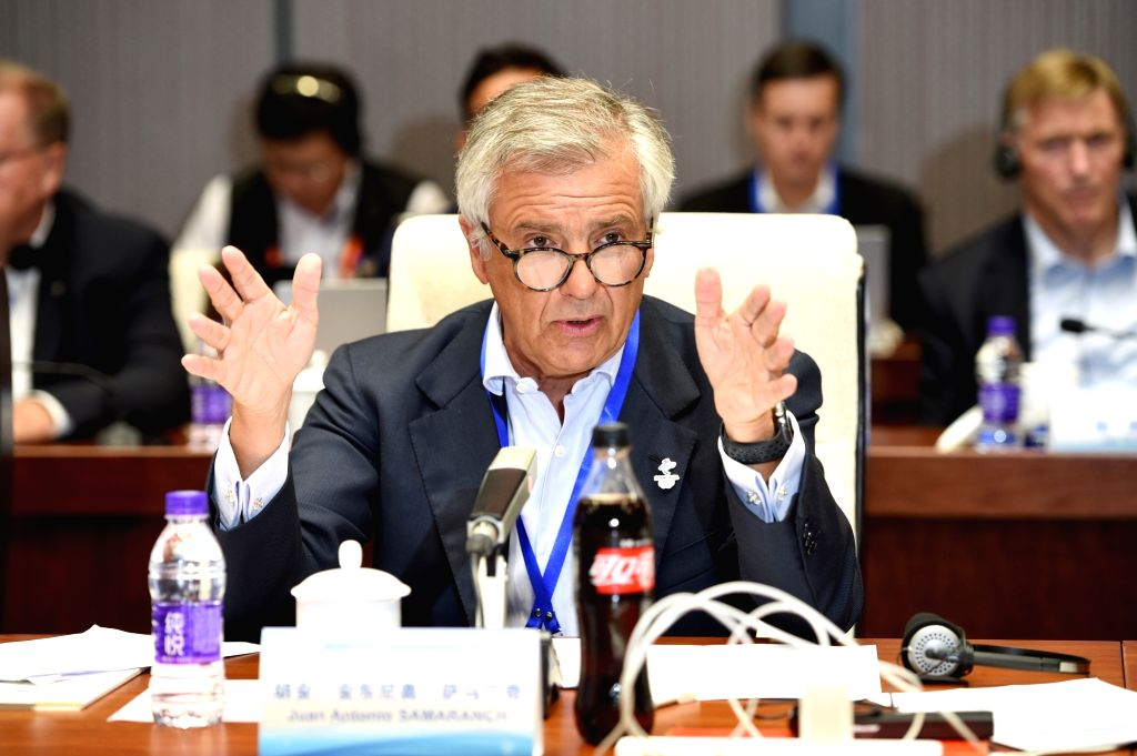 BEIJING, Sept. 17, 2018 - IOC Vice-President Juan Antonio Samaranch Salisachs speaks during the 3rd meeting of the IOC Coordination Commission for the XXIV Olympic Winter Games Beijing 2022 in ...