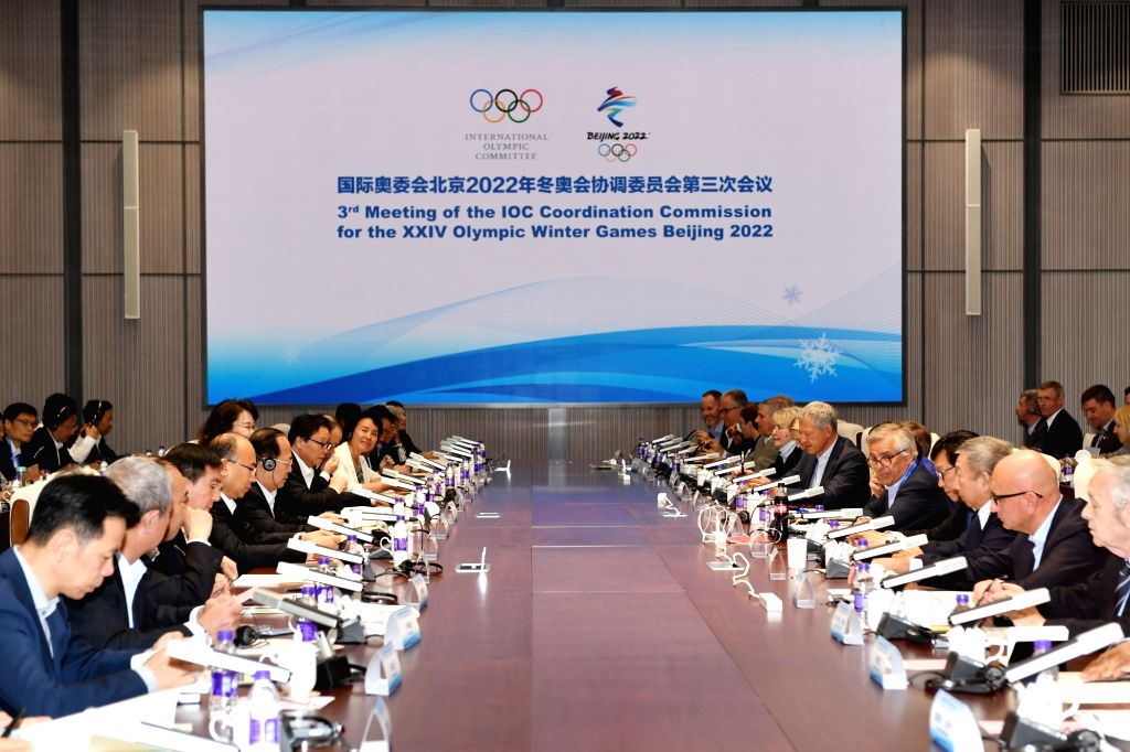 BEIJING, Sept. 17, 2018 - Photo taken on Sept. 17, 2018 shows the 3rd meeting of the IOC Coordination Commission for the XXIV Olympic Winter Games Beijing 2022 in Beijing, capital of China, Sept. 17, ...