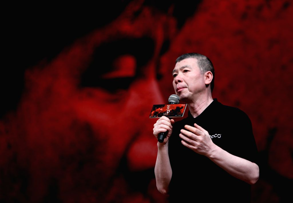 """BEIJING, Sept. 18, 2017 - Director Feng Xiaogang meets fans and promote his movie """"Youth"""" at Peking University in Beijing, capital of China, Sept. 17, 2017. The movie is expected to hit the ..."""
