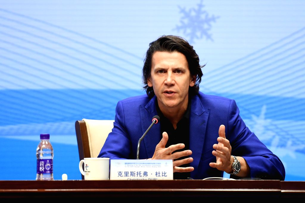 BEIJING, Sept. 18, 2018 - Christophe Dubi, Olympic Games executive director of the International Olympic Committee (IOC), speaks during the press conference of the 3rd meeting of the IOC Coordination ...