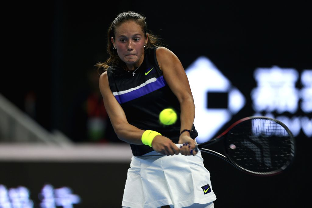 BEIJING, Sept. 29, 2019 - Daria Kasatkina of Russia returns the ball during the women's singles first round match between Daria Kasatkina of Russia and Peng Shuai of China at 2019 China Open tennis ...