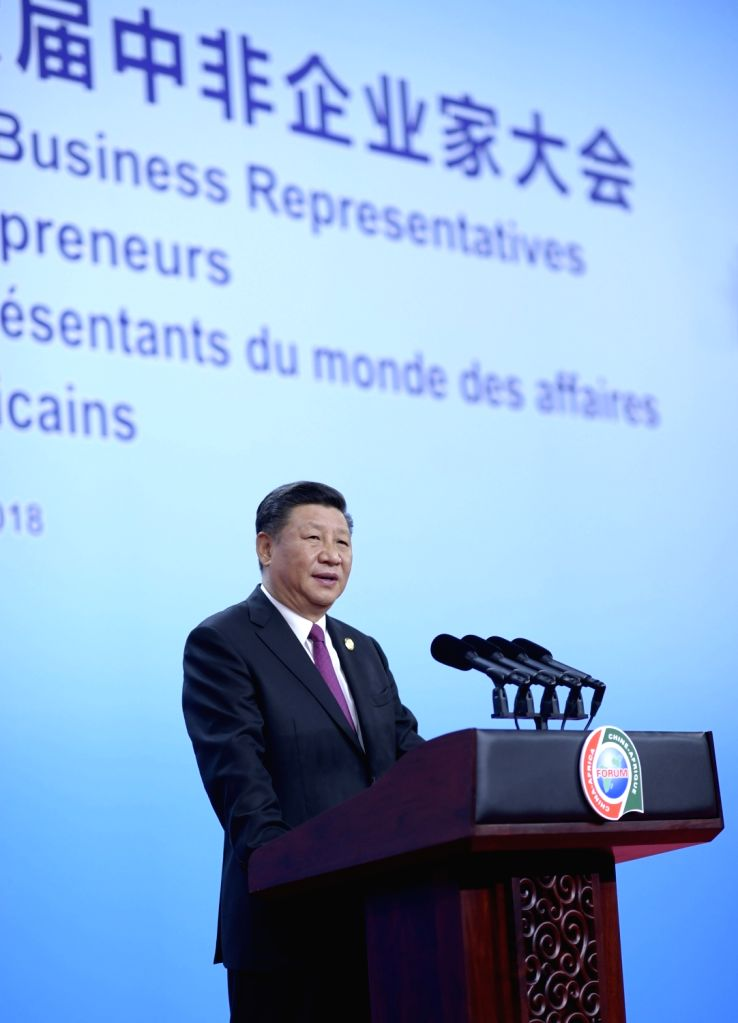 """BEIJING, Sept. 3, 2018 - Chinese President Xi Jinping delivers a keynote speech themed """"walk together towards prosperity"""" at the opening ceremony of the High-level Dialogue Between Chinese ..."""