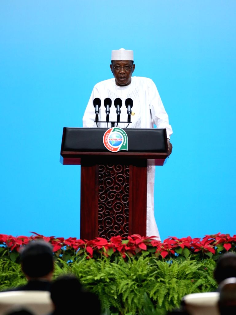 BEIJING, Sept. 3, 2018 - President of Chad Idriss Deby Itno delivers a speech at the opening ceremony of the High-level Dialogue Between Chinese and African ers and Business Representatives as ...