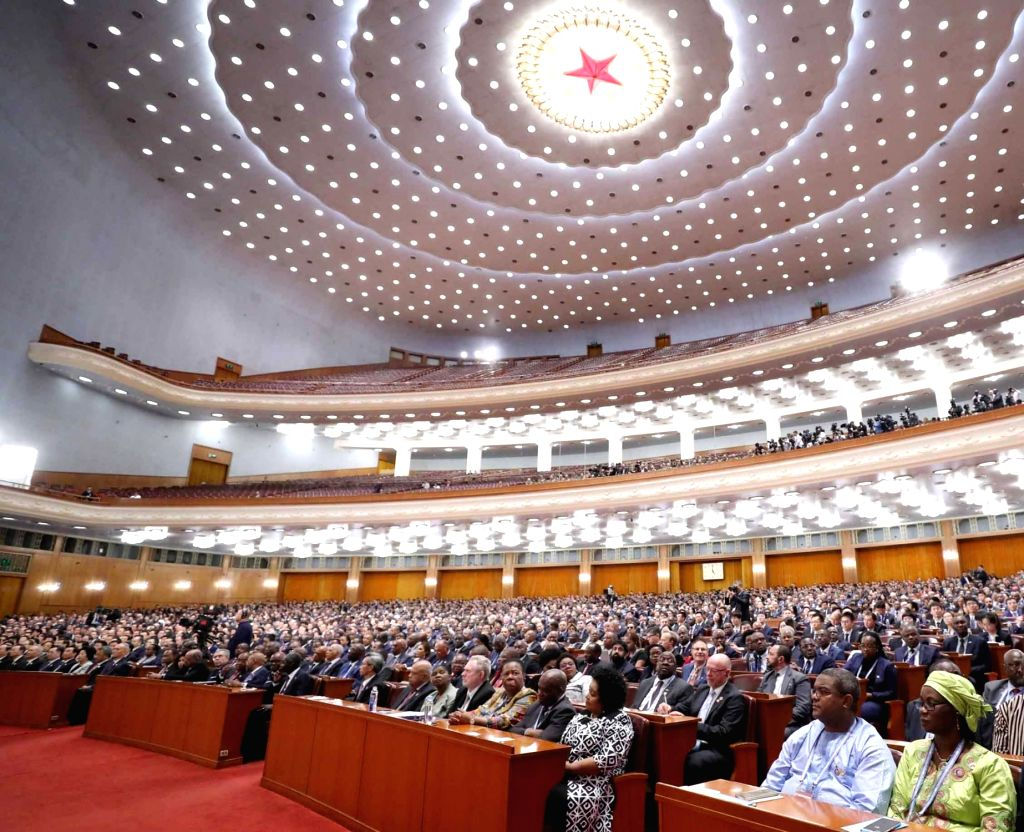BEIJING, Sept. 3, 2018 - The Beijing Summit of the Forum on China-Africa Cooperation (FOCAC) opens at the Great Hall of the People in Beijing, capital of China, Sept. 3, 2018.