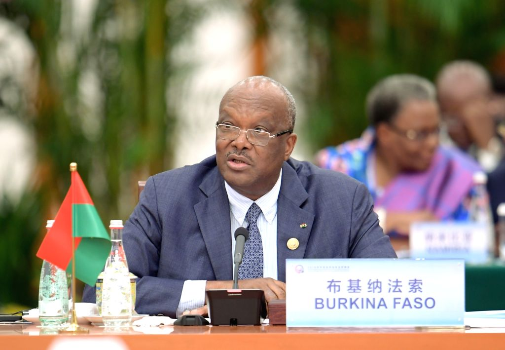 BEIJING, Sept. 4, 2018 - Burkina Faso President Roch Marc Christian Kabore attends the roundtable meeting of the 2018 Beijing Summit of the Forum on China-Africa Cooperation (FOCAC) at the Great Hall ...
