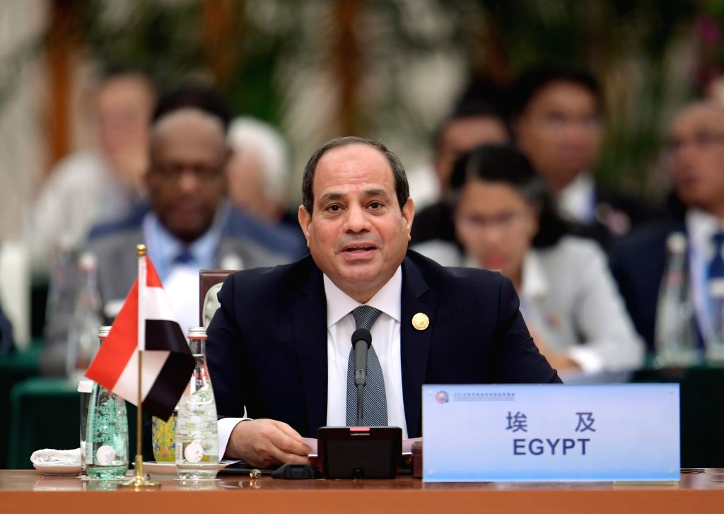 BEIJING, Sept. 4, 2018 - Egyptian President Abdel-Fattah al-Sisi attends the roundtable meeting of the 2018 Beijing Summit of the Forum on China-Africa Cooperation (FOCAC) at the Great Hall of the ...