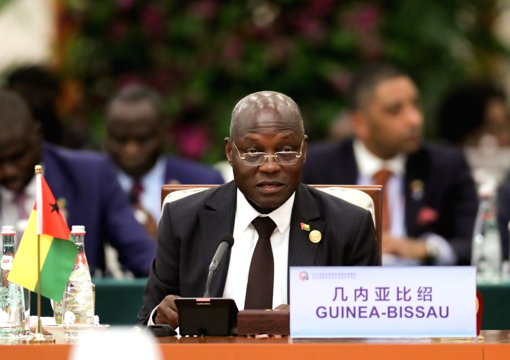 BEIJING, Sept. 4, 2018 - President of Guinea-Bissau Jose Mario Vaz attends the roundtable meeting of the 2018 Beijing Summit of the Forum on China-Africa Cooperation (FOCAC) at the Great Hall of the ...