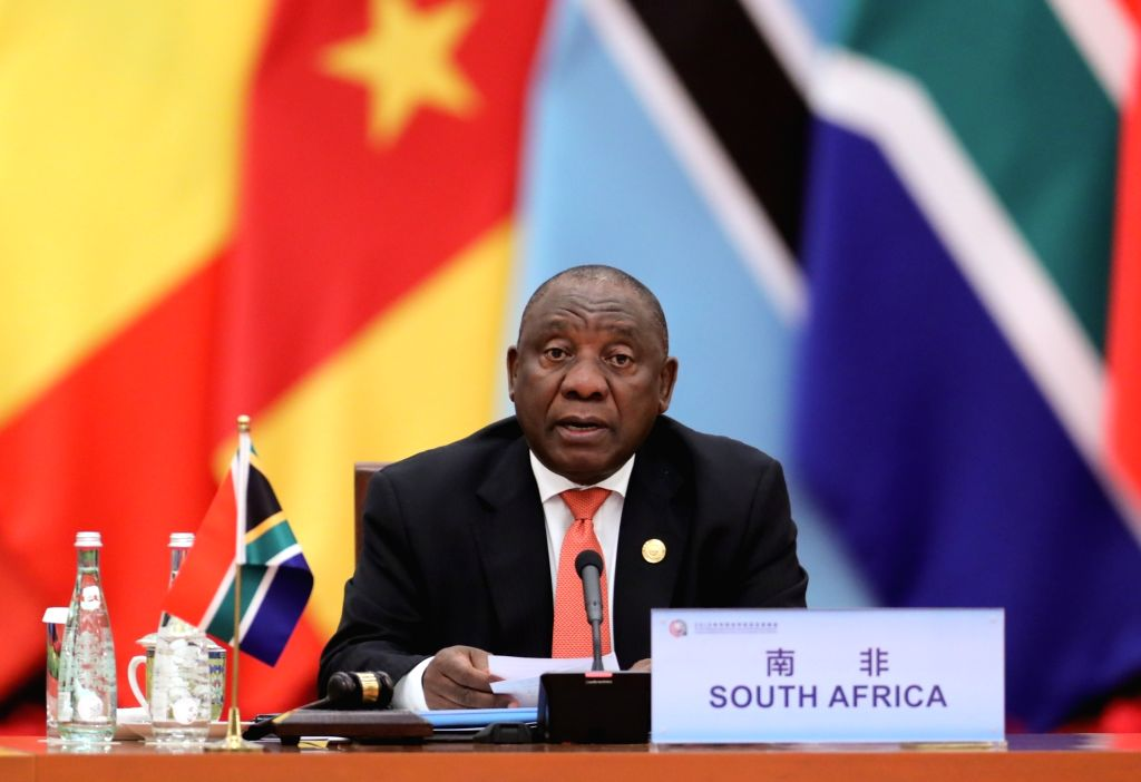 BEIJING, Sept. 4, 2018 - South African President Cyril Ramaphosa, the co-chair of the Forum on China-Africa Cooperation (FOCAC), chairs the second phase of the roundtable meeting of the 2018 FOCAC ...