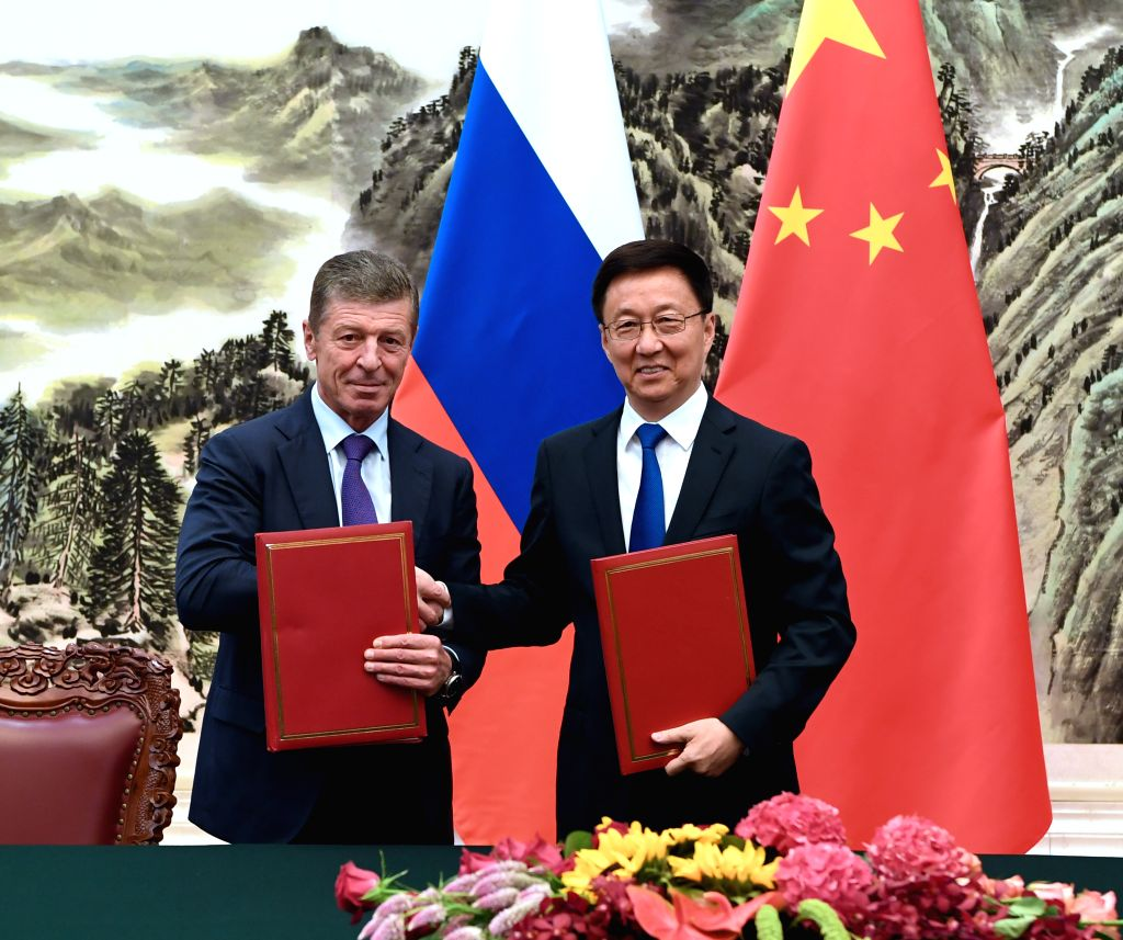 BEIJING, Sept. 6, 2019 - Chinese Vice Premier Han Zheng, also a member of the Standing Committee of the Political Bureau of the Communist Party of China Central Committee, and Russian Deputy Prime ... - Dmitry Kozak