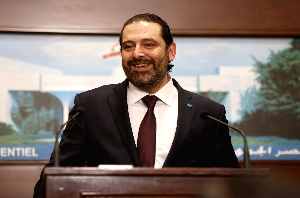 BEIRUT, Jan. 31, 2019 - Lebanese Prime Minister Saad Hariri speaks at a press conference in Beirut, Lebanon, Jan. 31, 2019. Lebanon announced Thursday the formation of a new government, which is ... - Saad Hariri