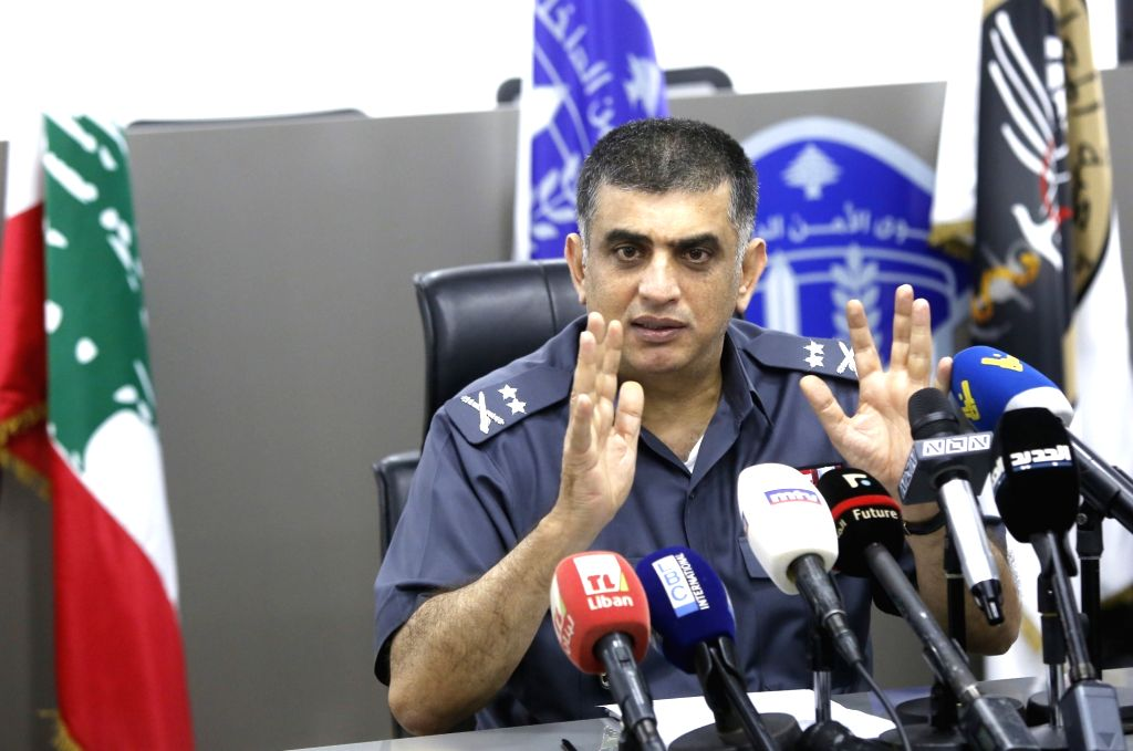 BEIRUT, June 5, 2018 - The Lebanese Internal Security Forces (ISF) commander, General Imad Othman speaks during a press conference in Beirut, Lebanon, June 4, 2018. The ISF seized recently over 15 ...