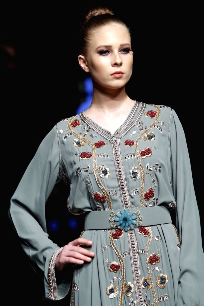 """BEIRUT, March 22, 2018 - A model presents a creation of Moroccan designer Safae Ibrahimi during the show """"Designers & Brands Event"""" in Beirut, capital of Lebanon, on March 22, 2018. ..."""