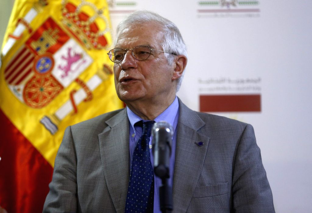 BEIRUT, May 3, 2019 - Spanish Foreign Minister Josep Borrell Fontelles visits Lebanon on May 3, 2019. Lebanese officials on Friday called upon Spain to help Lebanon in changing the European Union's ... - Josep Borrell Fontelles