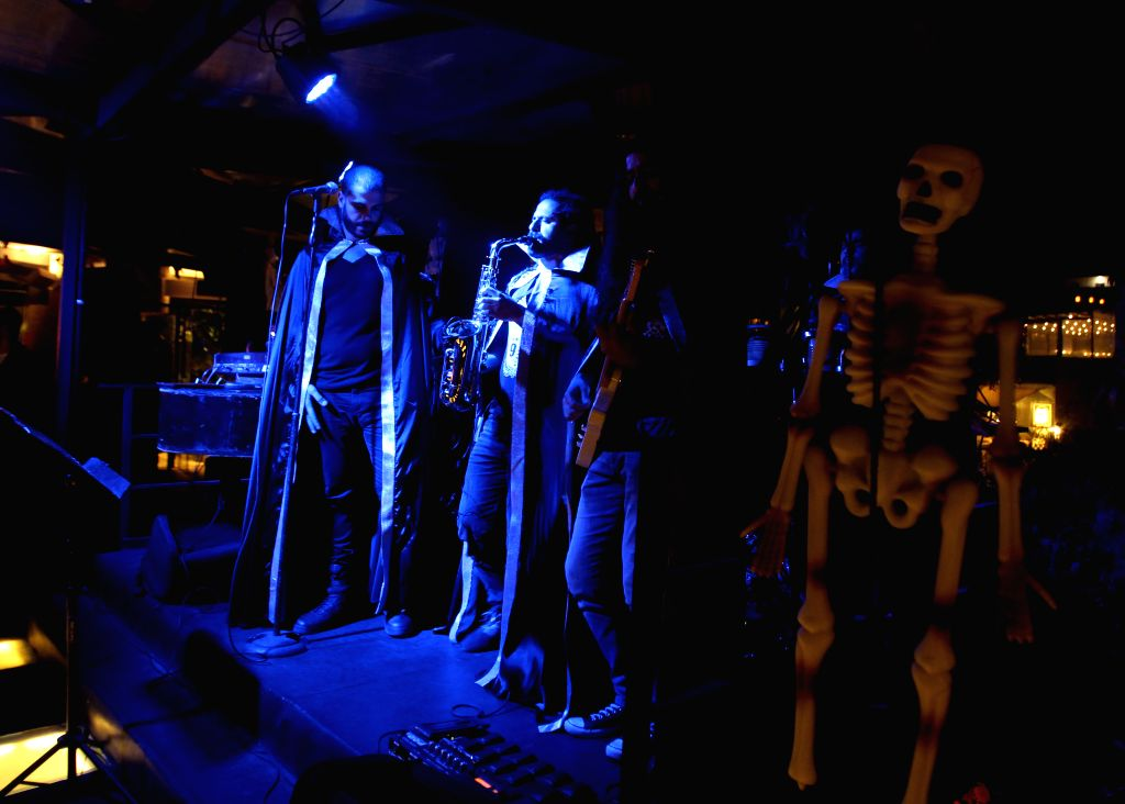 BEIRUT, Nov. 1, 2018 - A band performs during a Halloween party at a club in Beirut, Lebanon, Oct. 31, 2018.