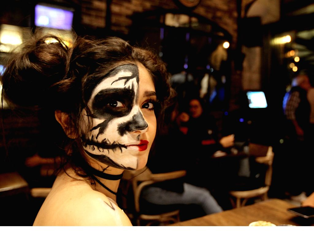BEIRUT, Nov. 1, 2018 - A woman enjoys a Halloween party at a club in Beirut, Lebanon, Oct. 31, 2018.